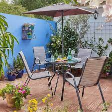andorra 4 seater garden dining set with