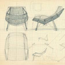 design sketches for the flag halyard chair hans j wegners tegnestue