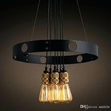 edison bulb chandelier bulb chandelier iron circle creative chandelier retro restaurant cafe chandelier blown glass pendant