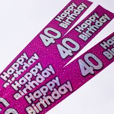40th Birthday Decorations For Her 40th Birthday Party Supplies Card Factory