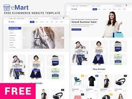 Free Ecommerce Website Templates Custom Free ECommerce Website Template EMart By GrayGrids Team Dribbble