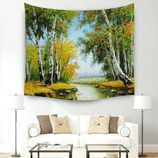 scenic tapestry forest mandala wall hanging tapestries bedspread yoga mat beach towel table picnic cloth blanket 3 size in from home fabric