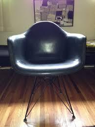 eames eiffel fiberglass side chair. 1954 eames arm shell chair with vinyl cover and eiffel base. fiberglass side s