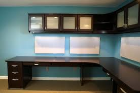 wall mounted office. Furniture:Corner Office Desk With Hardwood Combine Cabinet Wall Mounted Idea Also Blue F