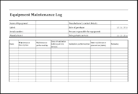 Fleet Maintenance Schedule Template