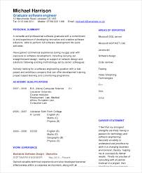 Software Developer Resume Samples Software Engineer Resume Example 10 Free Word Pdf