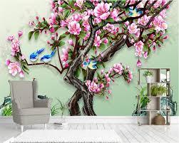 Beibehang Custom Behang Chinese Handgeschilderde Bloemen En Vogels