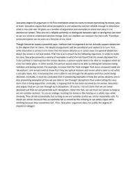 descartes philosophy essay similar essays descartes