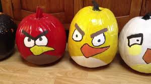 Small Pumpkin Painting Angry Bird Pumpkins Youtube