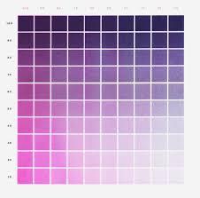 Purple Fluorescent Pink Gradation Color Chart Zine