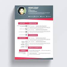 Creative Resume Template Business Job And Free Curriculum