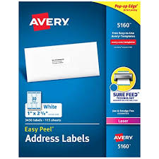 Avery Label Template 5160