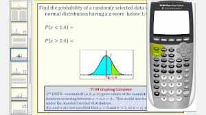 Z Score Chart Calculator Normal Distribution Find Probability Using With Z Scores Using The Ti84