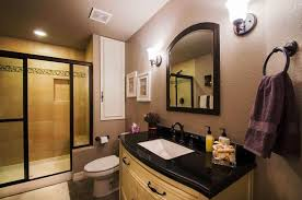basement bathroom ideas pictures. Astounding Design Of The Basement Bathroom Ideas With Black Marble Countertops Added Young Brown Pictures