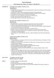 Engagement Consultant Resume Samples Velvet Jobs
