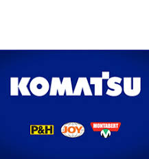 komatsu logo. komatsu mining corp. moving forward click here for details logo r