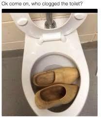 bathroom puns. Pun Of The Day: Clogged Toilet Bathroom Puns