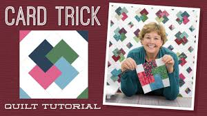 Card Trick Quilt Pattern Extraordinary Make A Card Trick Quilt With Jenny YouTube
