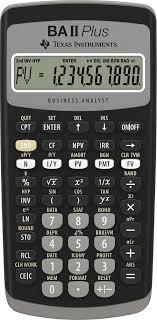 texas instruments ba ii plus adv financial calculator