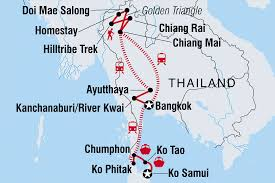 map of thailand adventure east coast may oct including thailand
