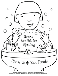 washing hands coloring page free printable coloring page to teach kids about hygiene germs are not