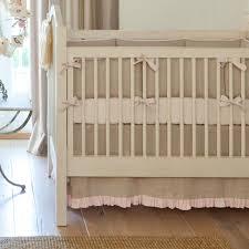 creative light pink linen crib bedding crib girl