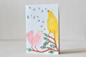 Folded Birthday Card Bastisrikes Onlineshop Folded Card Birthday Birds