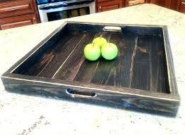 exotic ottoman tray large dark wood tray fashionable wood ottoman tray large square ottoman tray large