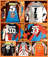 Tiger Signed All Stars Action Supercross Benefit Jerseys Lacey Auction Magazine From The Motocross