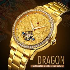 <b>SKMEI</b> 9219 Luxury <b>Automatic Mechanical Men</b> Watches Dragon ...