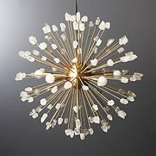 Chandelier pendant lighting Modern Ray Selenite Pendant Light Cb2 Modern Chandeliers And Pendant Lighting Cb2