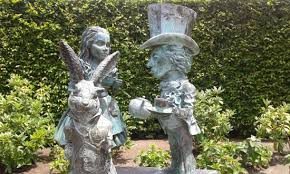 fantasy section alice in wonderland sculpture picture of