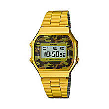 casio watches edifice g shock solar digital h samuel casio men s yellow gold plated camouflage digital watch product number 2841185