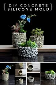 i love these pebble flower pots with