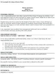 Sample Resumes For Stay At Home Moms Unique Example Of Work Resume Good Sample Resume Format