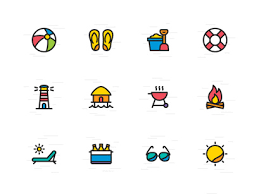 Summer Icons Part 26 Website Illustrations Set
