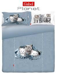 Copripiumino matrimoniale gabel planet cats