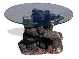 Bear Coffee Table End Table Glass Top Bear With Glass Top Coffee Table Baer Glass