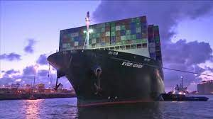 Ever Given container ship finally arrives in Netherlands months after  getting stuck in Suez Canal - YouTube