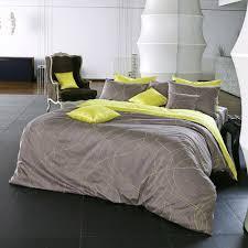 modern grayish brown lime yellow duvet cover set decorating