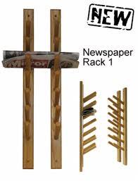 newspaper rack 1.  Rack Magazine Newspaper Rack Wall Mounted Cosmecol SaveEnlarge  Shop Intended 1