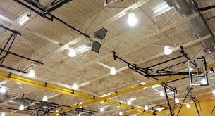 northeast high school s gym received a sound upgrade with community r series loudspeakers