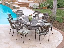 fabulous oval patio table 42 inch glass top dining table cast aluminum patio dining table