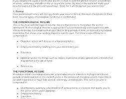 Recent Resume Formats Current Resume Formats Current Resume