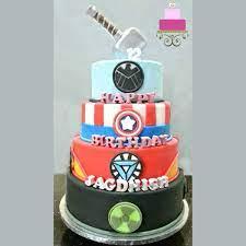 Custom cakes, cupcakes, & cookies! Superhero Birthday Cake An Awesome Tutorial Decorated Treats