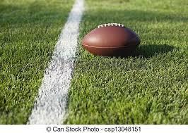 grass american football field. Football On Grass Field At Goal Or Yard Line - Csp13048151 American