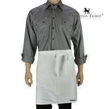 Tablier De Taille Pour La Cuisine En Coton Bachette Blanc Lisavet