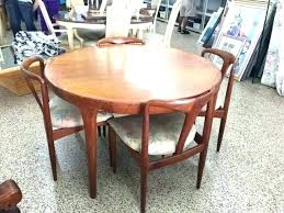 danish round dining table teak room furniture great chairs mid century modern set d