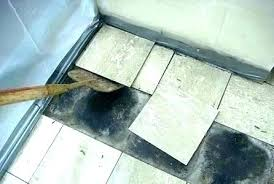cleaning thinset from tile removing tile from concrete floor asbestos removal remove off re cleaning thinset