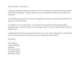 10 Lovely Sample Thank You Letter After Interview Via Email Todd